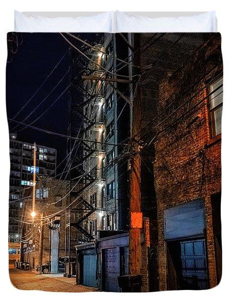 Chicago Nights Duvet Cover
