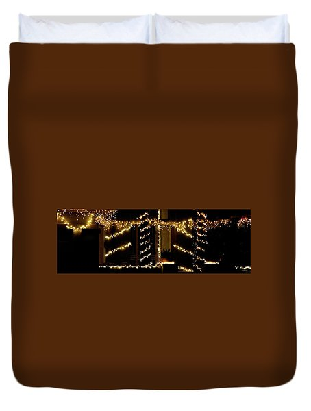 Duvet Cover featuring the photograph Christmas Lights 2 12753 by Jerry Sodorff