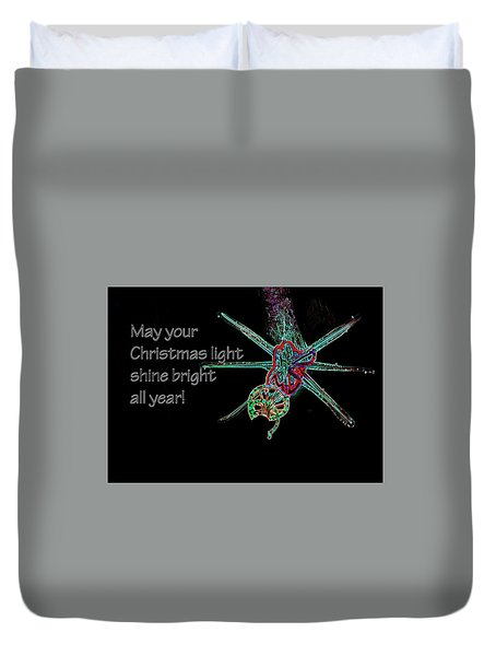 Duvet Cover featuring the photograph Christmas Star Light 26762 Ge by Jerry Sodorff