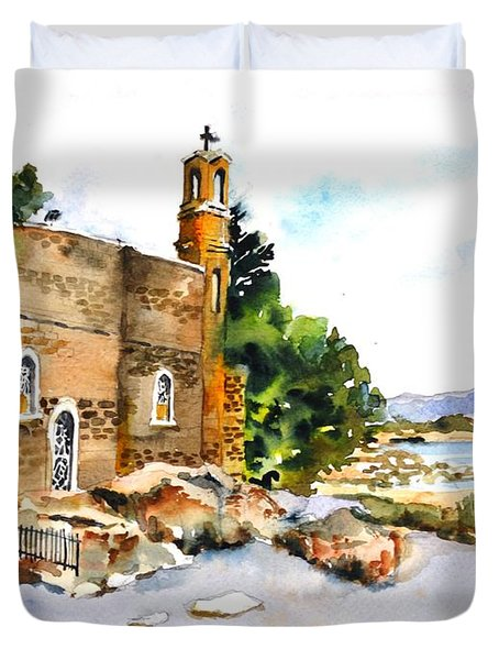 Church Of Primacy, Galilee Duvet Cover
