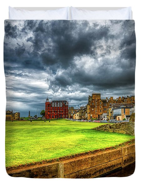 Cloudy Day - St. Andrews Links Duvet Cover