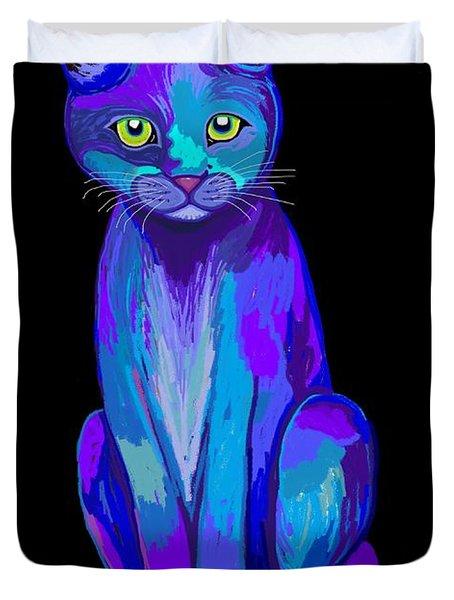 Colorful Calico Cat Duvet Cover