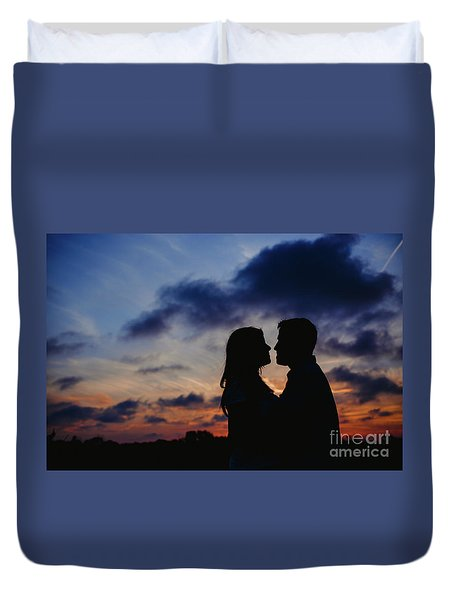 Couple With Cloud Sky Backlight Duvet Cover
