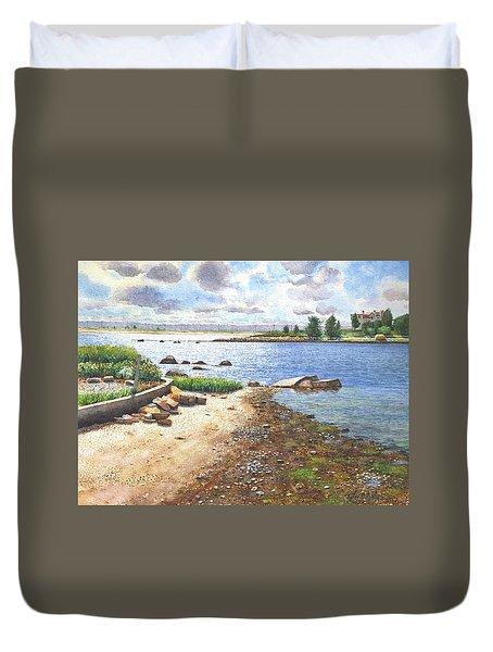 Crab Rock, Low Tide Duvet Cover