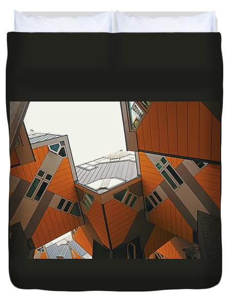 cube homes in Rotterdam Duvet Cover