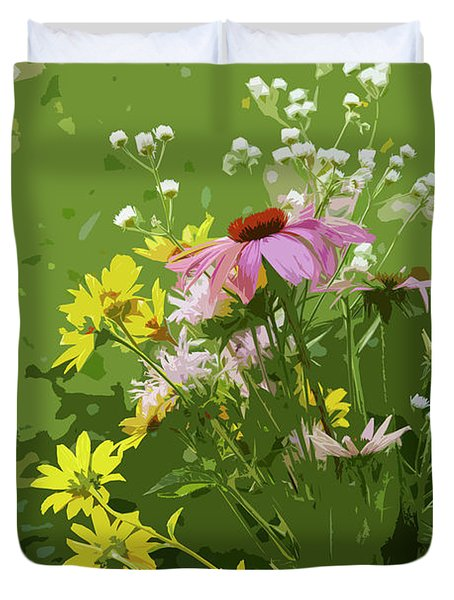 Cut Flowers Duvet Cover