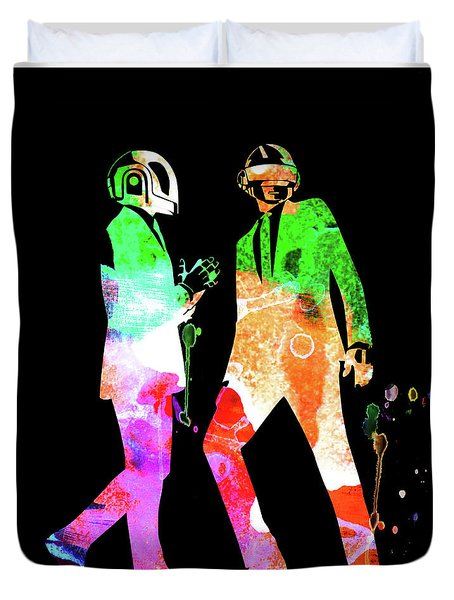 Daft Punk Watercolor Duvet Cover