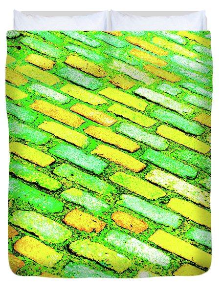Diagonal Street Cobbles Duvet Cover