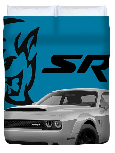 Dodge Demon Duvet Cover