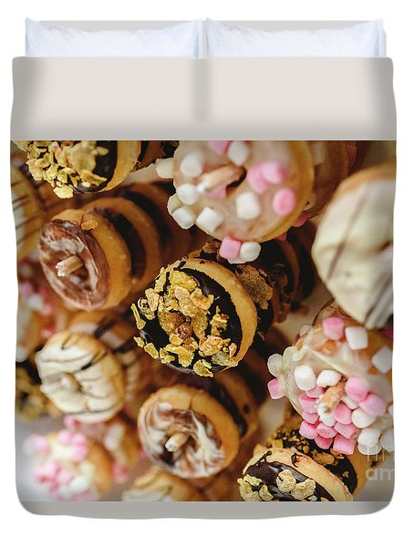 Donuts Of Different Flavors, To Put On An Unhealthy Diet Duvet Cover