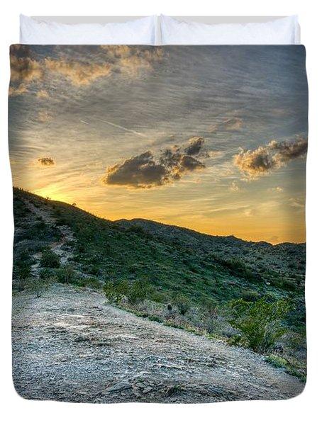 Dramatic Mountain Sunset  Duvet Cover