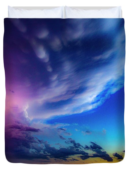 Epic Nebraska Lightning 007 Duvet Cover