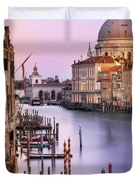 Evening Light In Venice Duvet Cover
