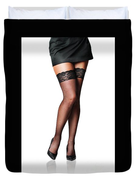 Female Legs Duvet Cover
