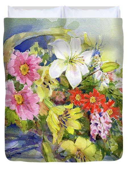 Flower Basket Duvet Cover