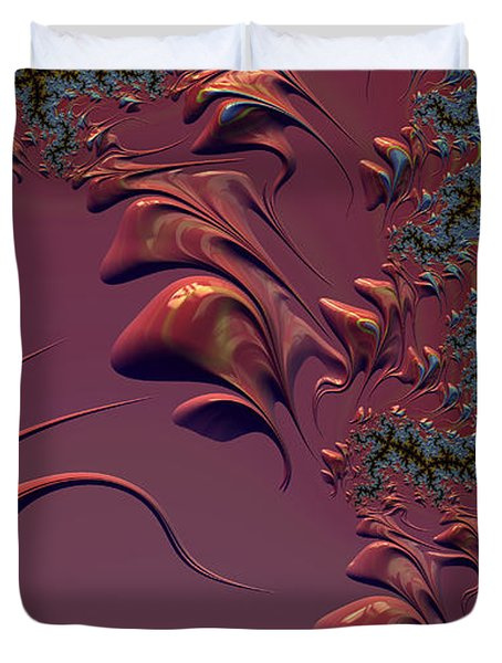 Fractal Playground In Pink Duvet Cover