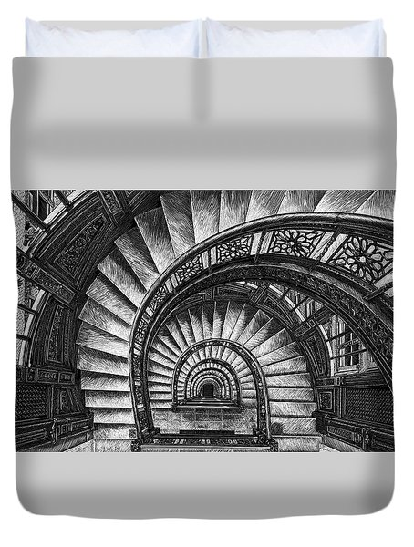 Frank Lloyd Wright - The Rookery Duvet Cover