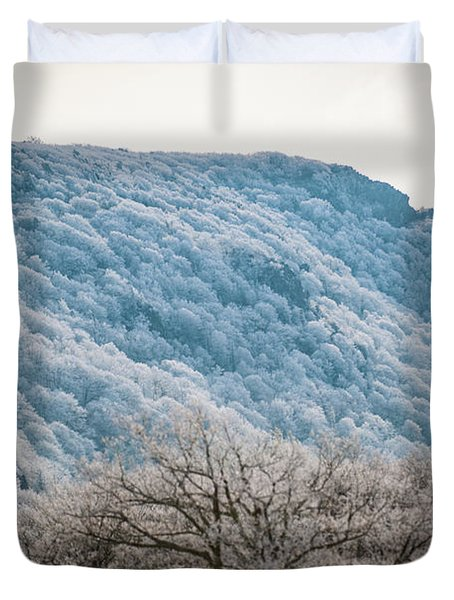 Frost On The Mountain Duvet Cover