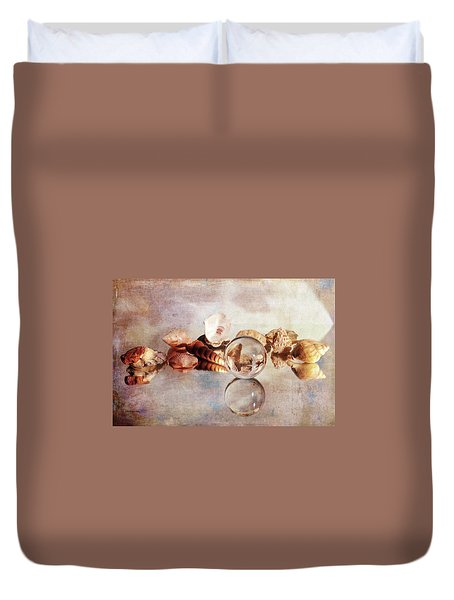 Duvet Cover featuring the photograph Gems From The Beach by Randi Grace Nilsberg