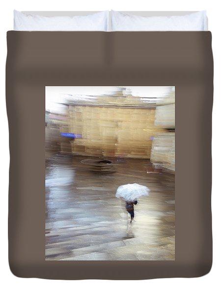 Duvet Cover featuring the photograph Gentle Rain by Alex Lapidus