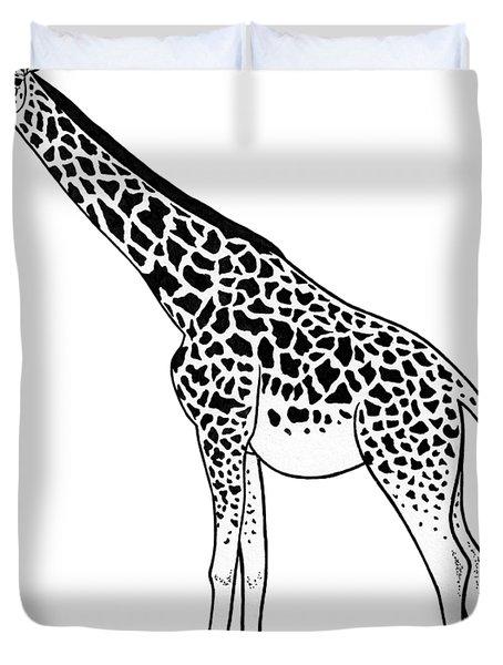 Giraffe - Ink Illustration Duvet Cover