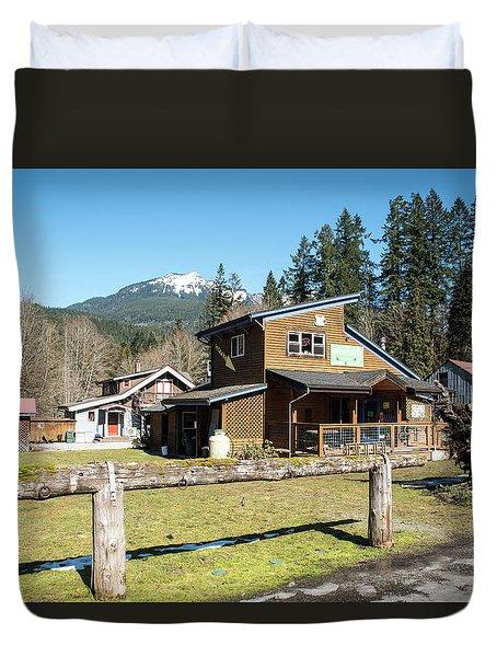 Glacier Coffee Shop Duvet Cover