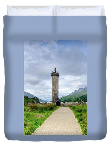 Glenfinnan Monument Duvet Cover