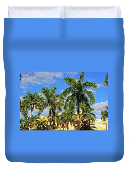 Glorious Palms Duvet Cover