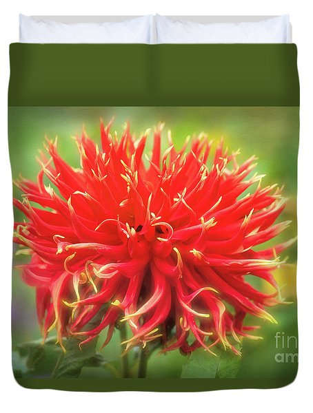 Glorious Sho-n-tell Dahlia Duvet Cover