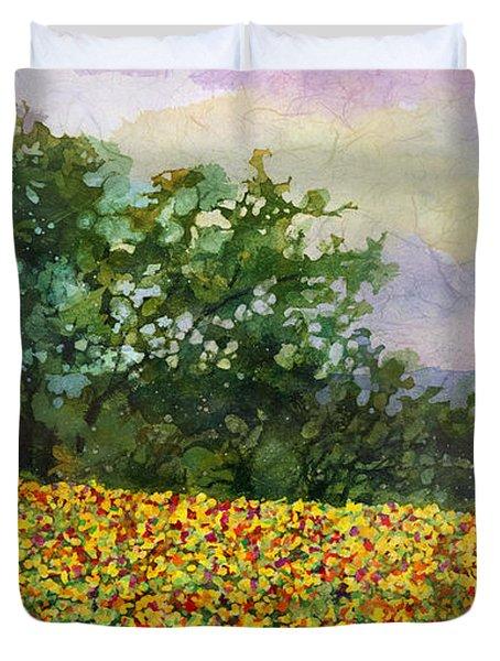 Golden Hillside Duvet Cover