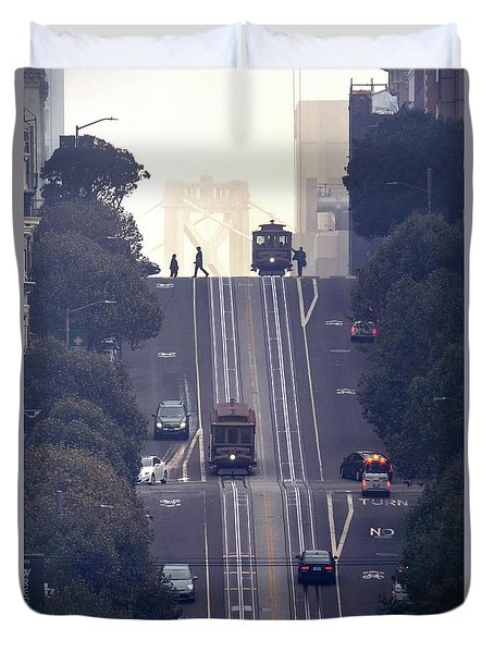 Duvet Cover featuring the photograph Good Morning San Francisco by Quality HDR Photography