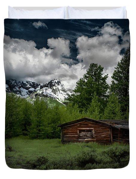 Grand Teton Cabin Duvet Cover