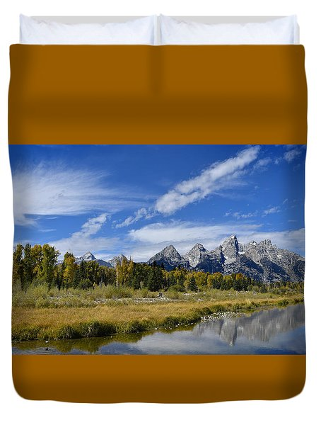 Grand Tetons Duvet Cover