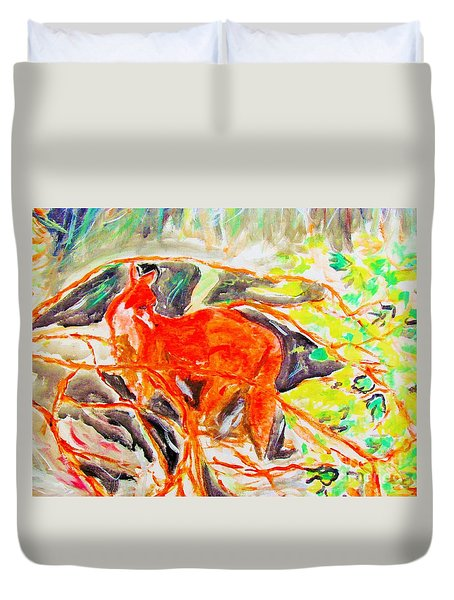 Hidden Fox Duvet Cover
