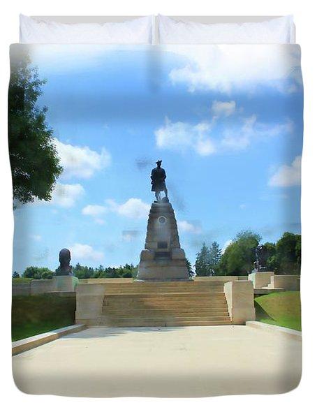 Highland Regiment Monument Duvet Cover