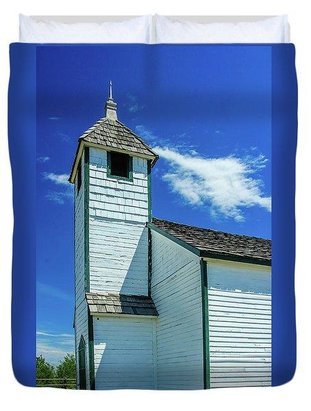 Historic Mcdougall Church, Morley, Alberta, Canada Duvet Cover