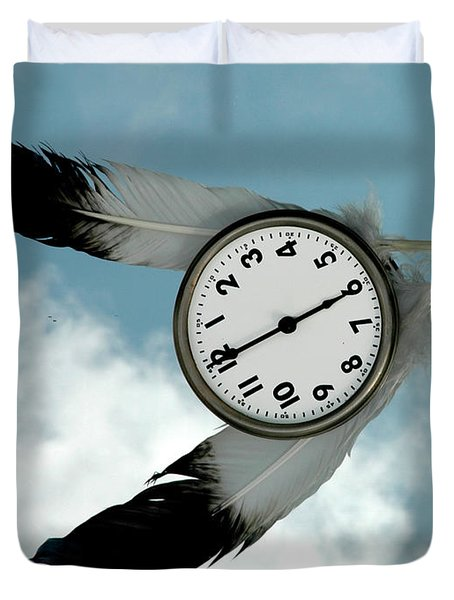 How Time Flies Duvet Cover