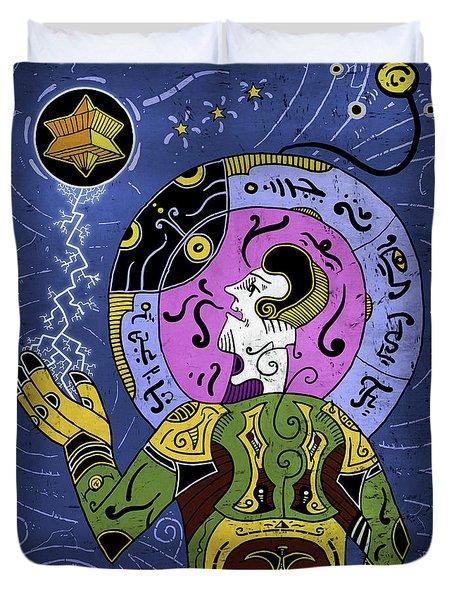 Duvet Cover featuring the digital art Incal by Sotuland Art