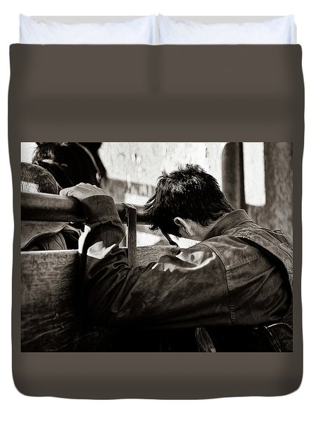 Its The Joy And The Pain Duvet Cover