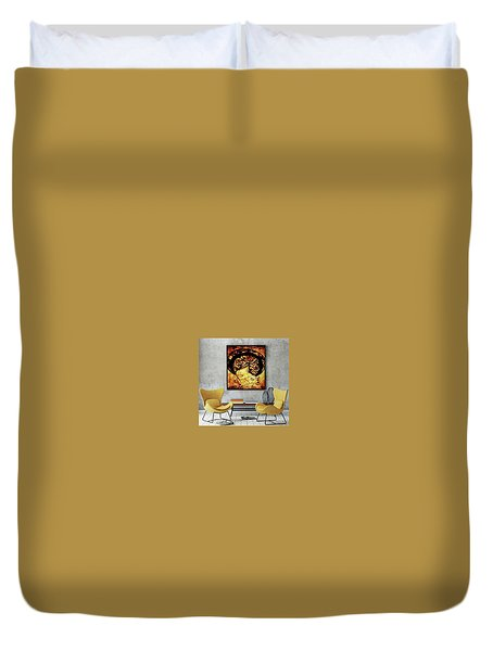 Lady Mystery Duvet Cover