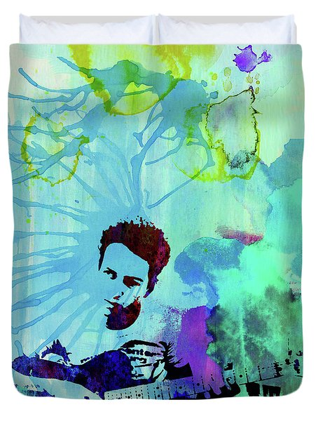 Legendary Joe Strummer Watercolor Duvet Cover