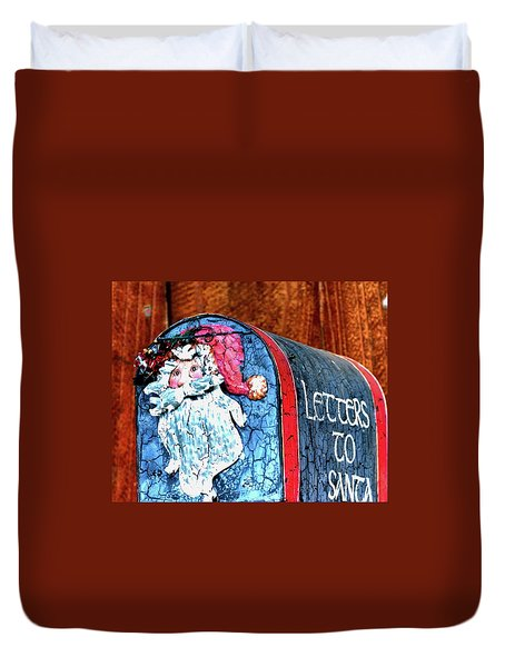Duvet Cover featuring the photograph Letters To Santa 20537 by Jerry Sodorff