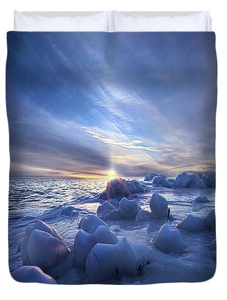 Duvet Cover featuring the photograph Letting Go by Phil Koch