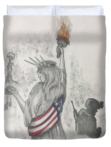 Liberty And Justice For All Duvet Cover