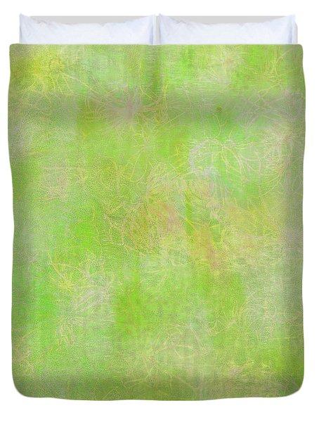 Lime Batik Print Duvet Cover