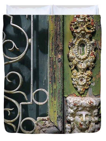 Lisbon Old Door Detail Duvet Cover