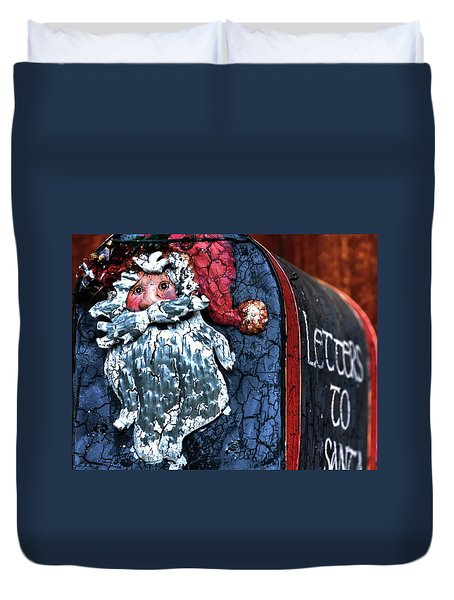 Duvet Cover featuring the photograph Mail To Santa 20534 by Jerry Sodorff