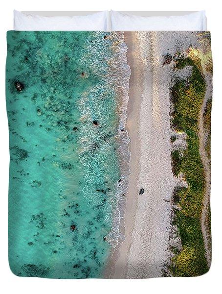 Makalawena Beach Duvet Cover