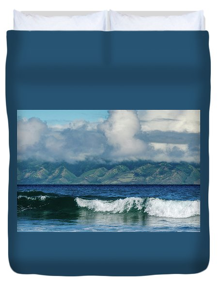 Maui Breakers Duvet Cover