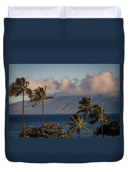 Maui Palms Duvet Cover